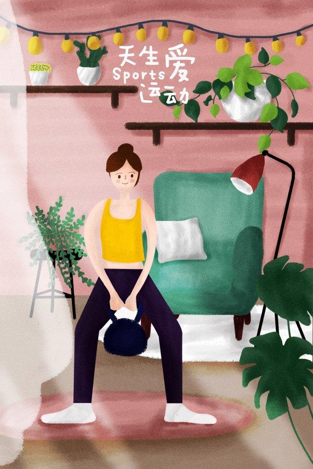 motion health life girl llustration image illustration image