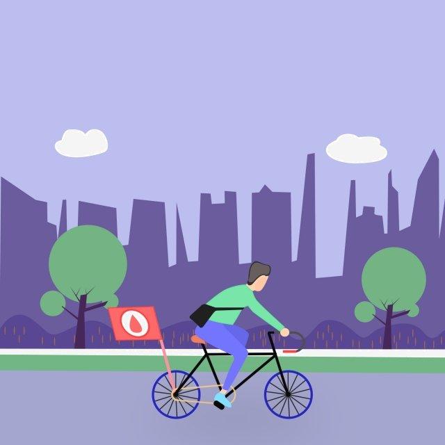 motion spring city trees illustration image