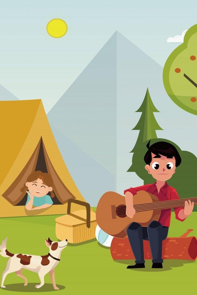 음악 야외 여름 아름다운 그림 삽화 소재