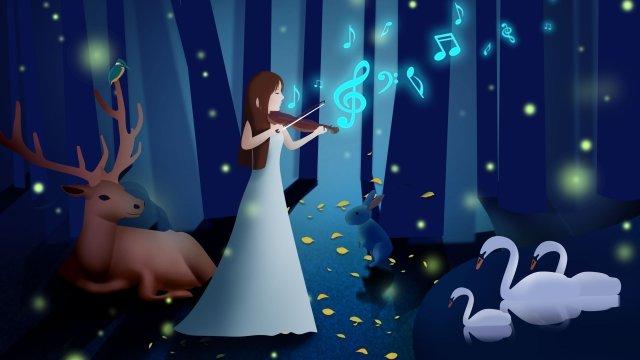 音樂演奏樂器美 插畫素材 插畫圖片
