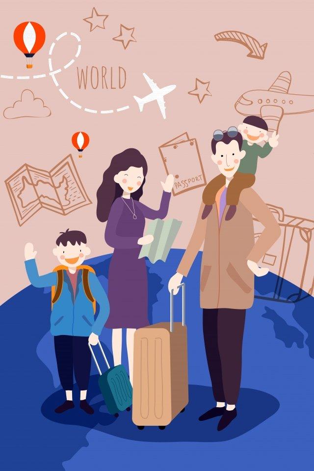 国民の日休日の長い旅行 イラストレーション画像 イラスト画像