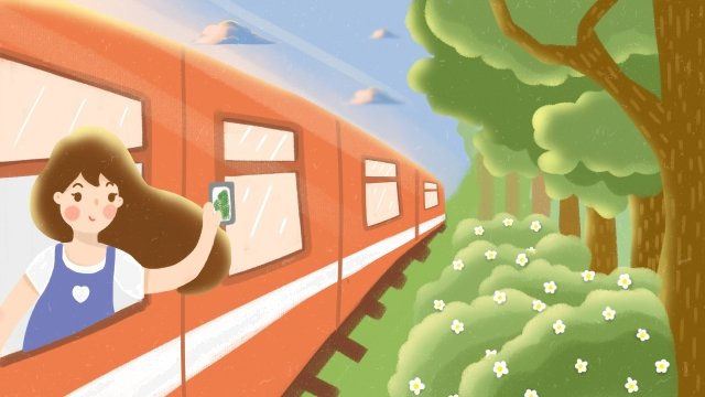 национальный день национальный день маленький праздник поезд Ресурсы иллюстрации