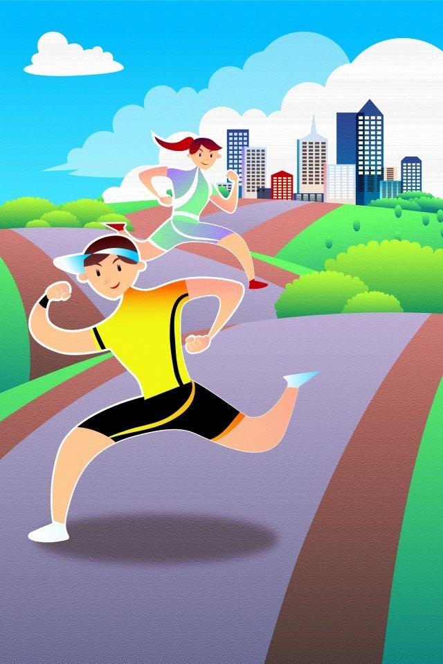 национальный фитнес день фитнес физкультура движение Ресурсы иллюстрации