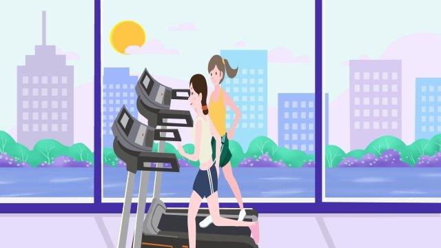 национальный фитнес день тренажерный зал бег фитнес Ресурсы иллюстрации Иллюстрация изображения
