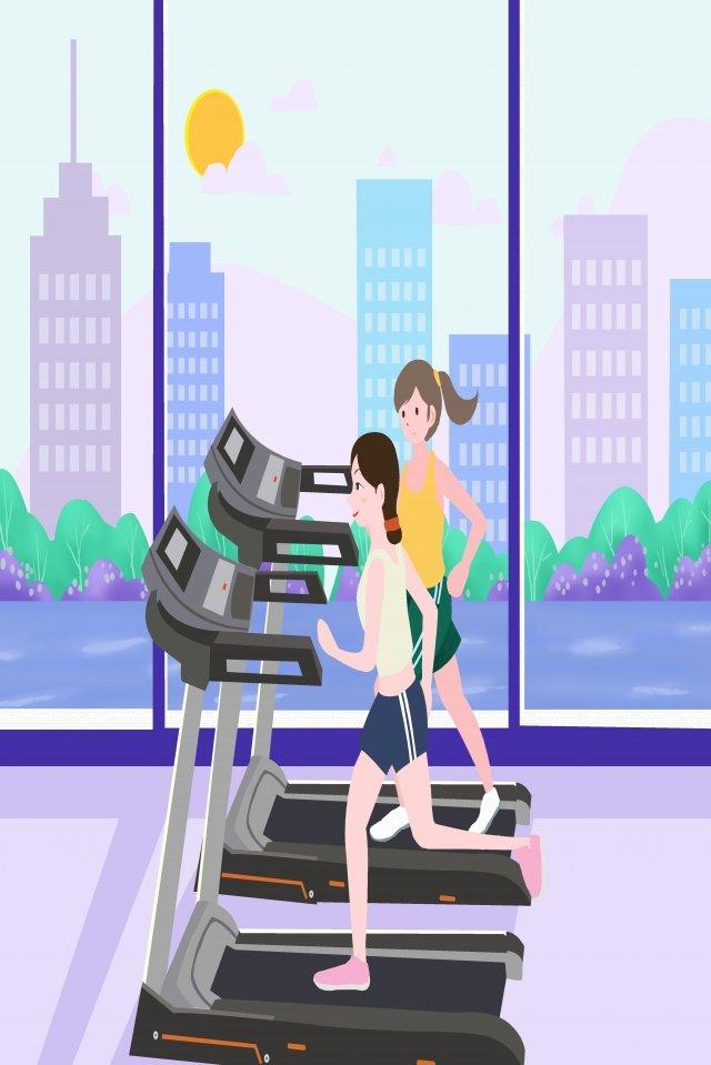 национальный фитнес день тренажерный зал бег фитнес Ресурсы иллюстрации