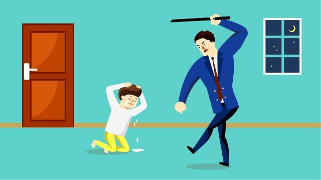 부정적 장면 가정 폭력 삽화 소재
