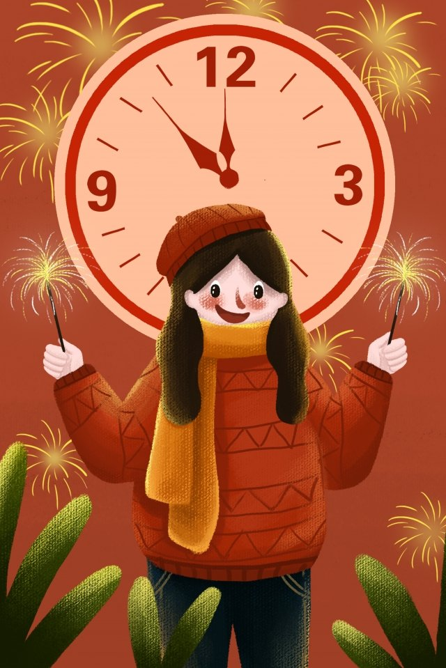 new year countdown new spring celebrate llustration image illustration image