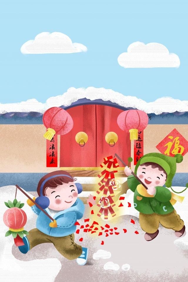 new year new spring festival spring festival llustration image illustration image