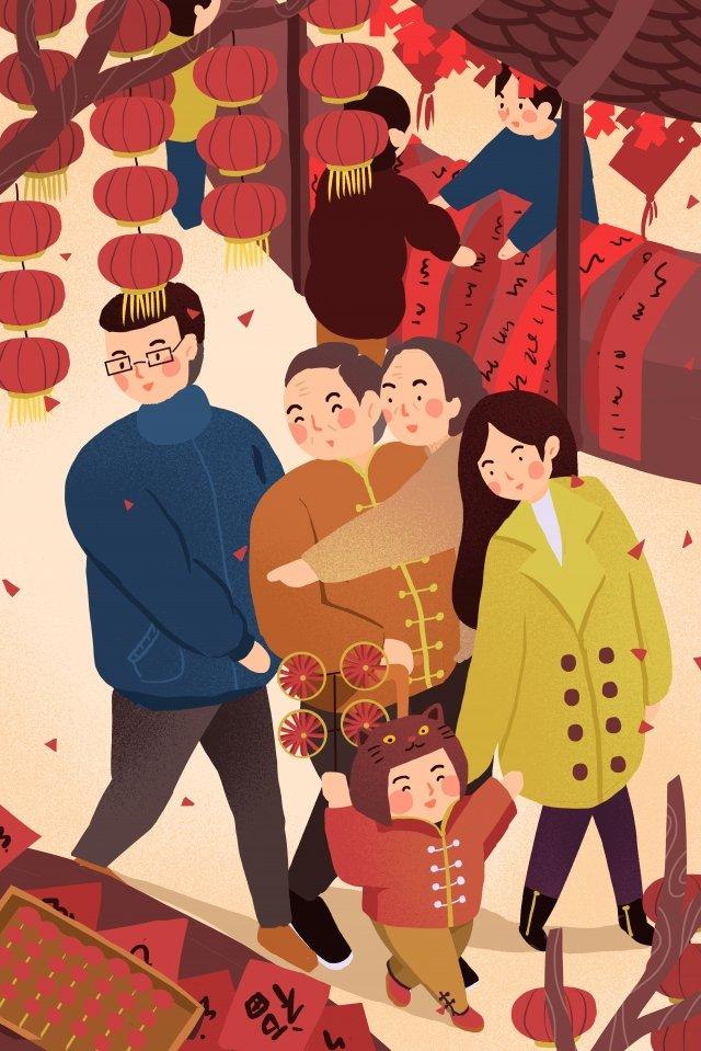 新年新年の手描き イラスト素材