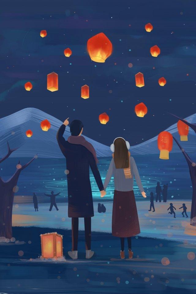새 해 새로운 약속 약속 빛을 봐 삽화 소재