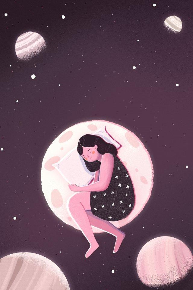 夜の夜おやすみなさい イラスト素材