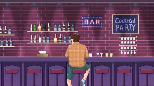 night bar drink wine glass llustration image illustration image