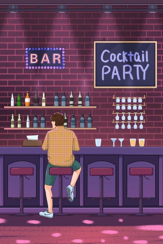 night bar drink wine glass llustration image