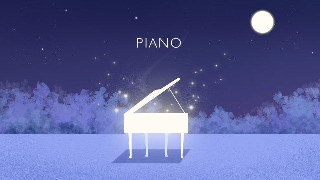 밤 조용한 밤 밤 달 삽화 소재 삽화 이미지