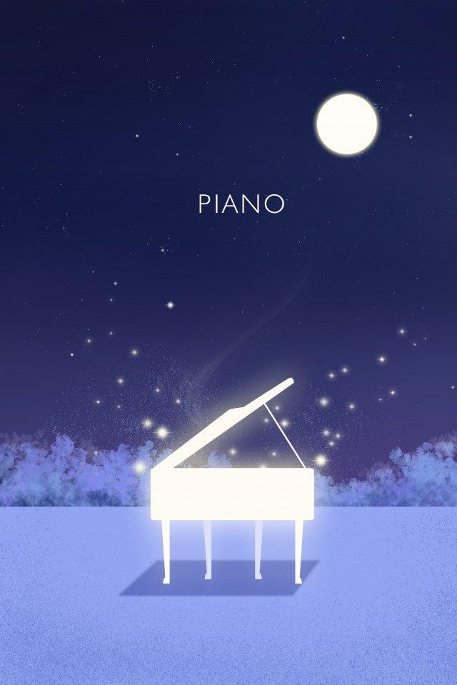 noite tranquila noite noite lua Material de ilustração