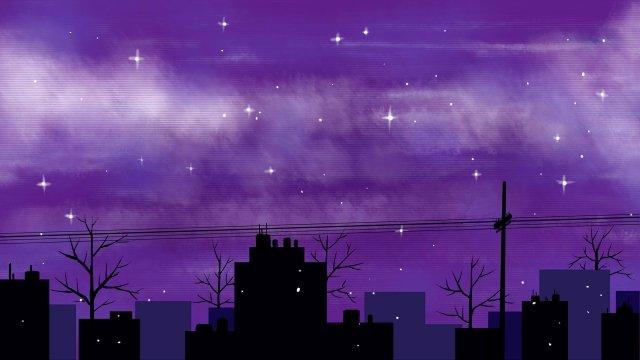 ночное небо звездное городское небо Ресурсы иллюстрации