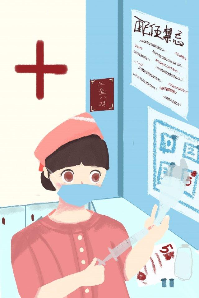работа медсестры ежедневное дозирование Ресурсы иллюстрации Иллюстрация изображения