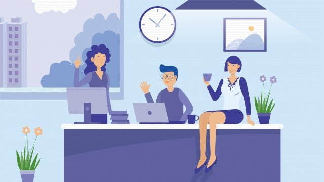 office business supervisor white collar, Boss, Meeting, Discuss illustration image