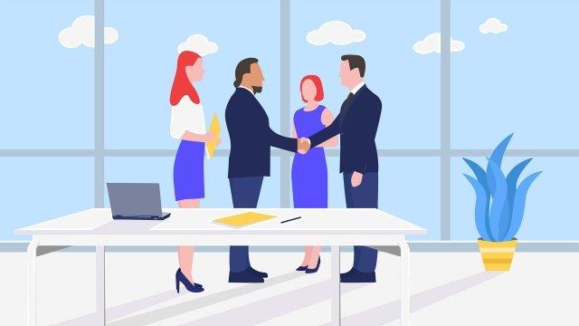 kinh doanh văn phòng bắt tay win win Hình minh họa Hình minh họa