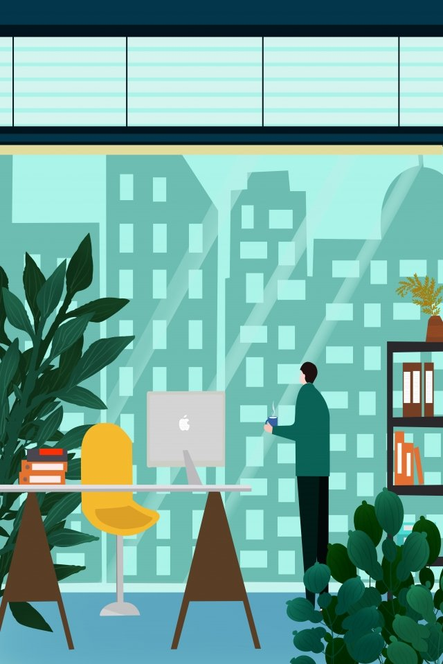 office environment office illustration business illustration business office, Office, Office Person, Office Scene illustration image