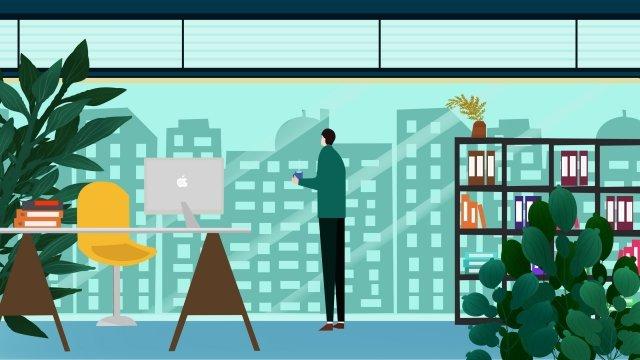 office environment office illustration business illustration business office, Office, Office Person, Office Scene illustration image