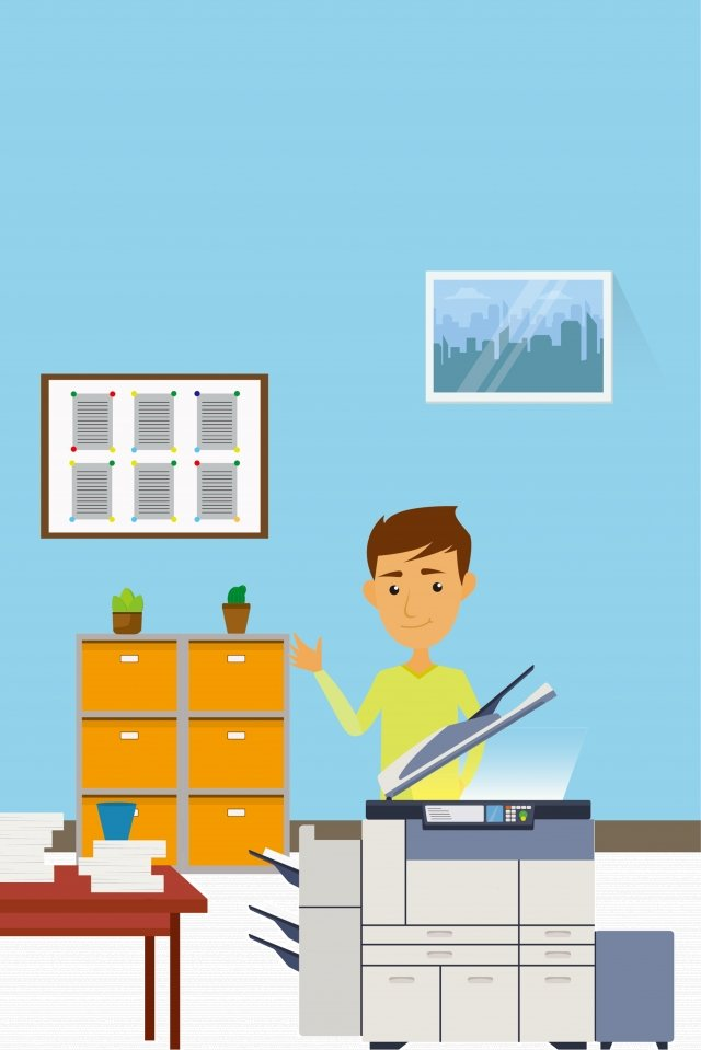 辦公室複製生活 插畫素材