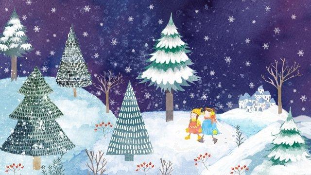 osamu solar terms winter solstice winter llustration image illustration image