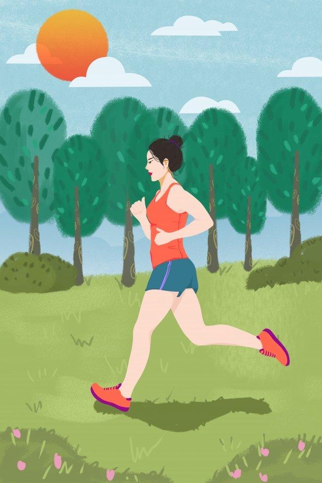 thể thao ngoài trời chạy minh họa xanh tập thể dục ngoài trời Hình minh họa