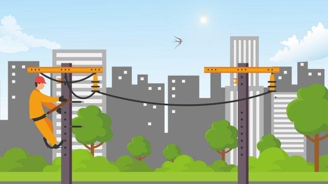 overhaul jobs worker career, High Altitude, Line, Overhaul illustration image