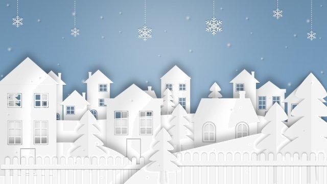 종이 컷 바람 겨울 겨울 겨울 시작 삽화 소재 삽화 이미지