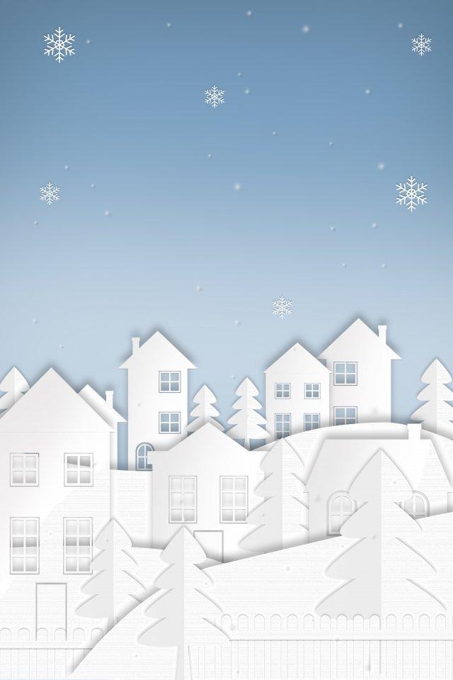 paper cut wind inverno inverno início do inverno Material de ilustração