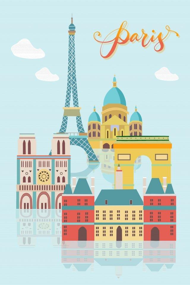 パリ市建物サイン イラスト素材