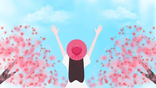 桃の花桃の花 イラスト素材 イラスト画像