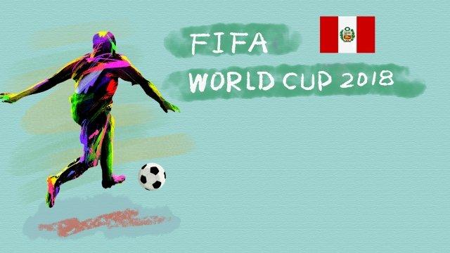 ペルーサッカーワールドカップ2018 イラスト素材