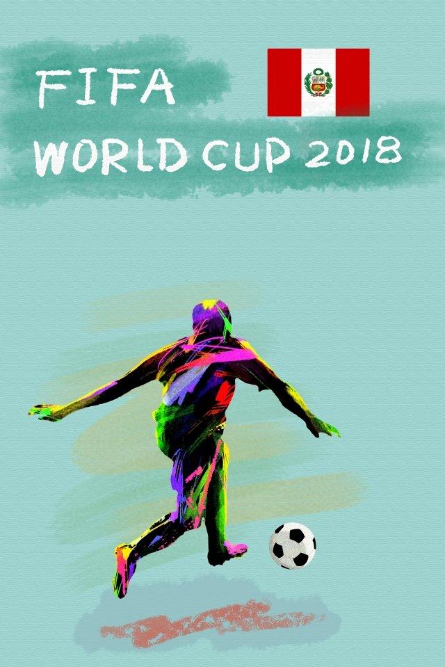ペルーサッカーワールドカップ2018 イラスト素材 イラスト画像