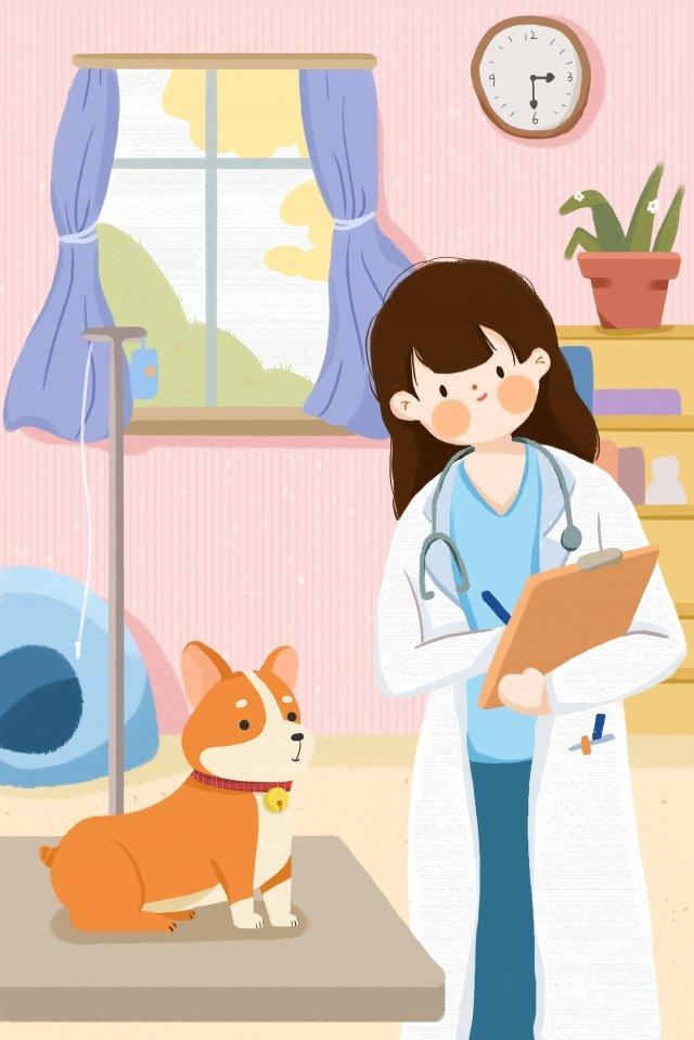 hospital de cães de estimação Material de ilustração