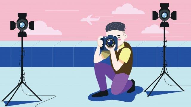 nhiếp ảnh gia sự nghiệp trên tầng thượng chụp ảnh Hình minh họa