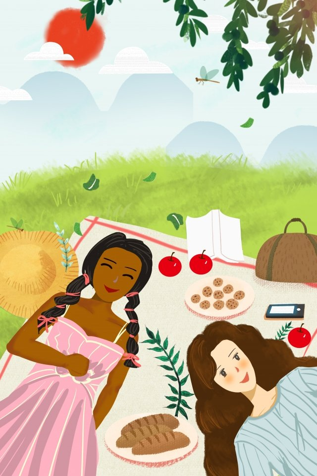picnic international friendship asian african friendship dinner llustration image