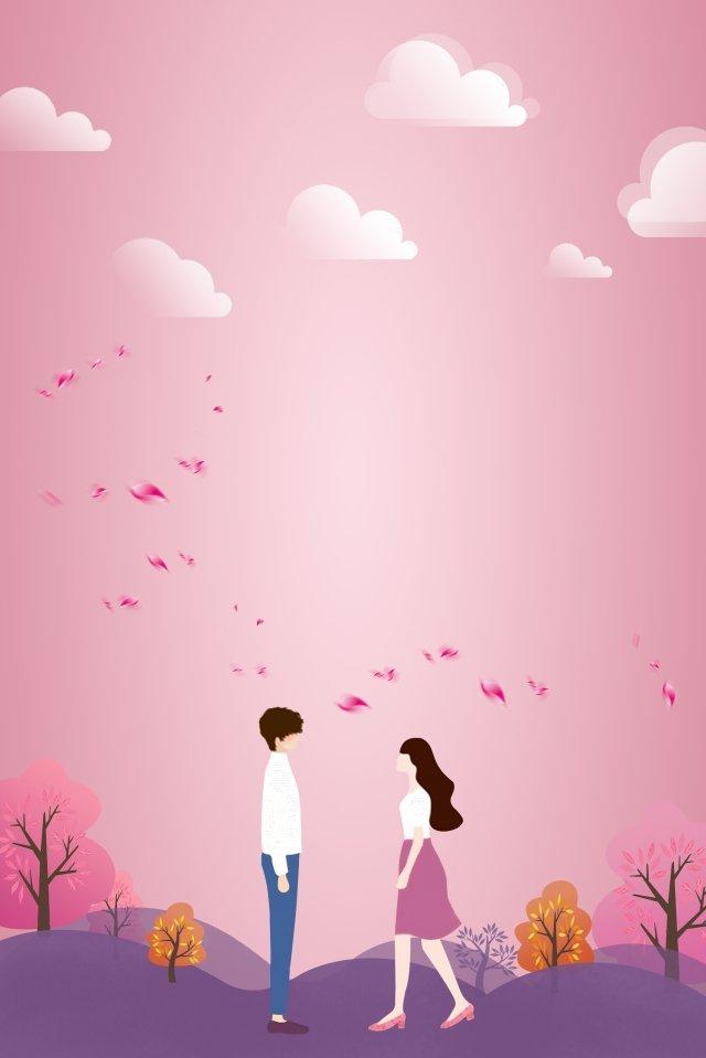 ピンクパープルのロマンチックな少年 イラスト素材