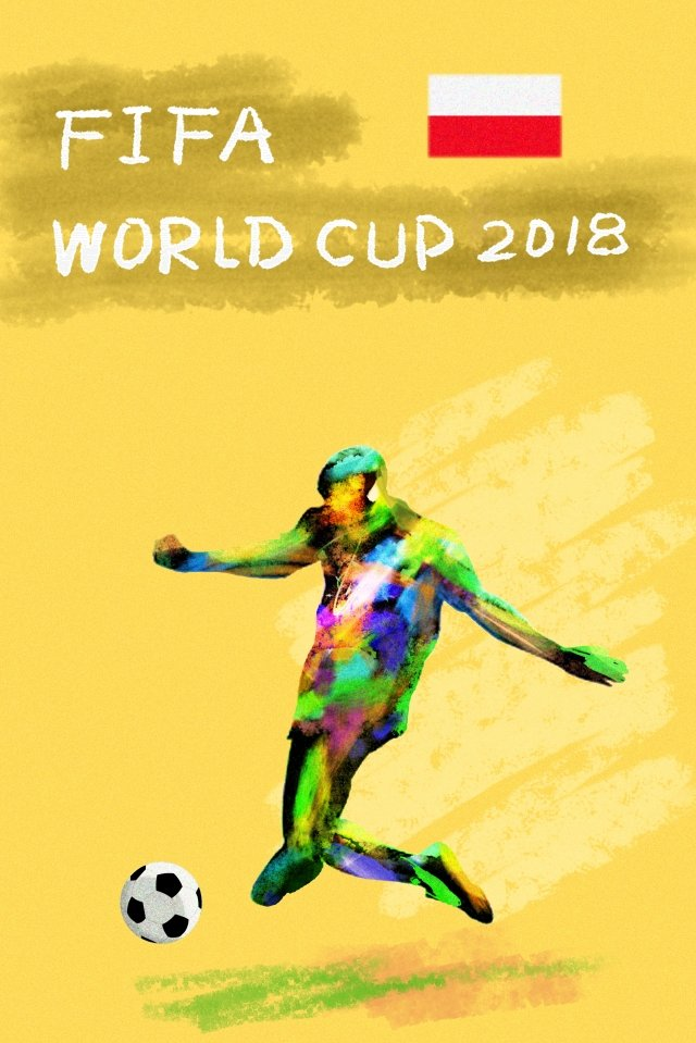 ポーランドサッカーワールドカップ2018 イラスト素材