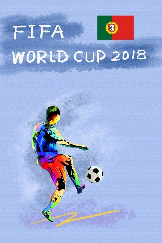 ポルトガルサッカーワールドカップ2018 イラスト画像