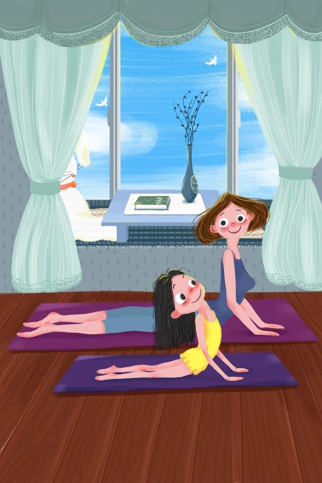 積極的能量母愛 愛溫暖 插畫素材 插畫圖片