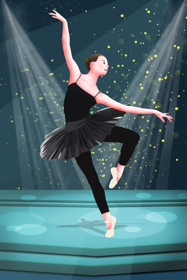 professional character ballet dancer dancing people illustration image