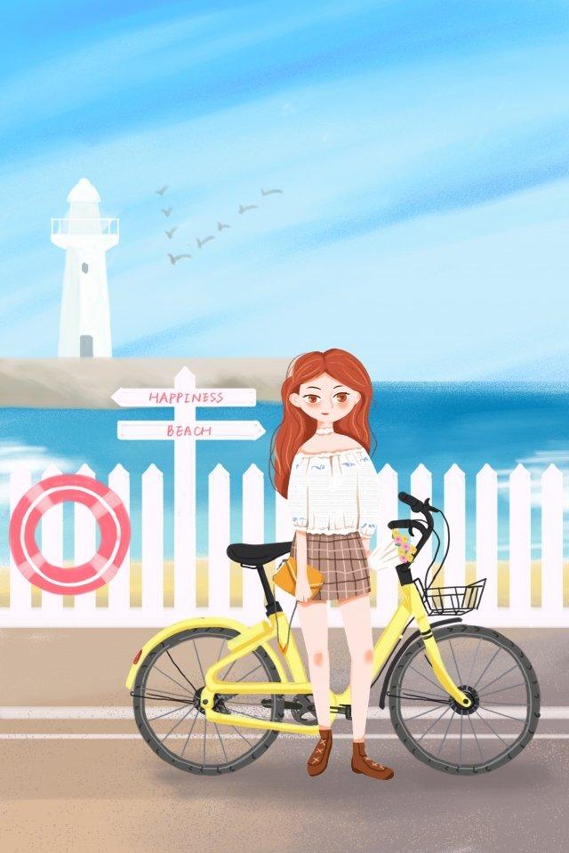 pengangkutan awam membawa basikal perjalanan basikal hijau imej ilustrasi