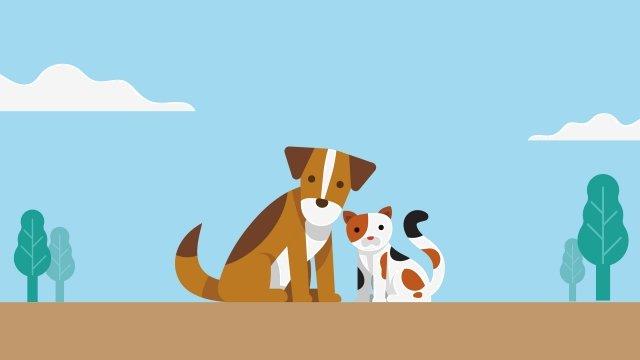 щенок котенок парк групповое фото Ресурсы иллюстрации