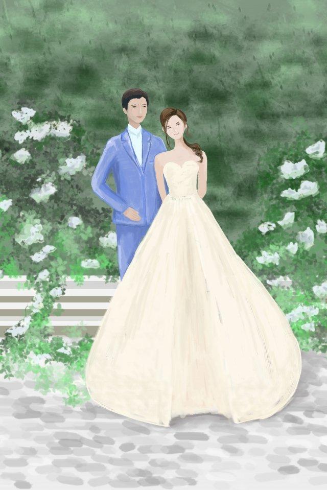 純粋な美しさのウェディングドレスの美しさ美しい イラスト素材