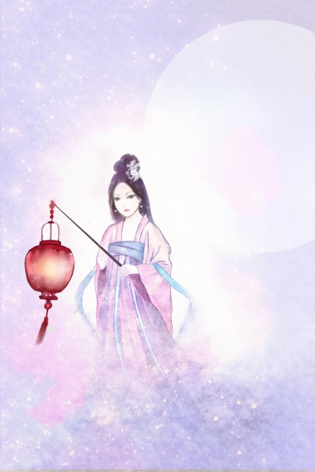 фиолетовый середина осени  китайский стиль Ресурсы иллюстрации