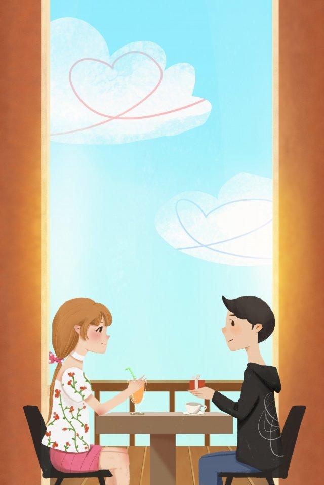 qixi festival casal nomeação presente Material de ilustração