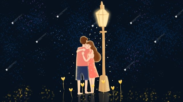qixi festival valentines day couple appointment llustration image