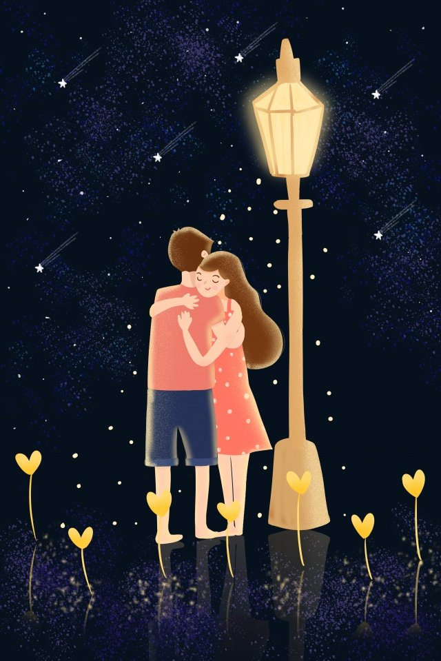 qixi祭りバレンタインデーカップルの予約 イラスト素材